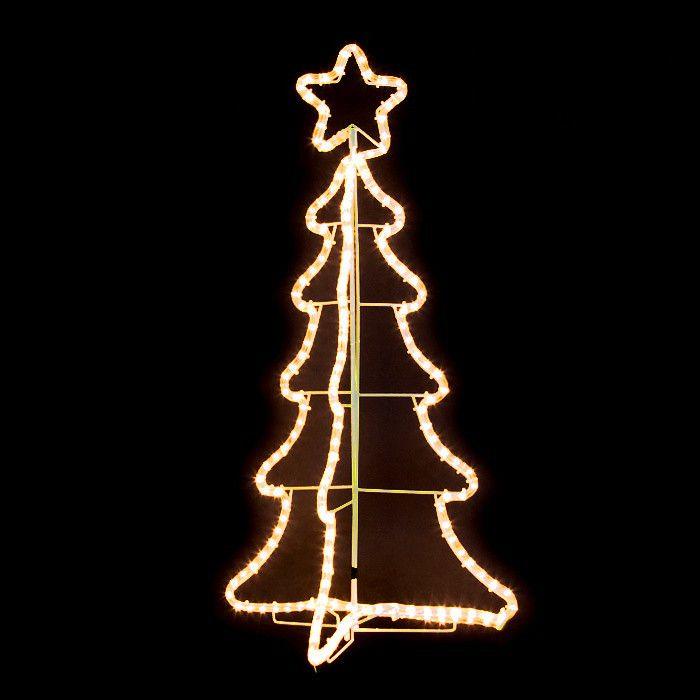 Albero Di Natale 3d.Albero Di Natale 3d H 95 Cm 180 Luci Incandescenza Bianco Classic