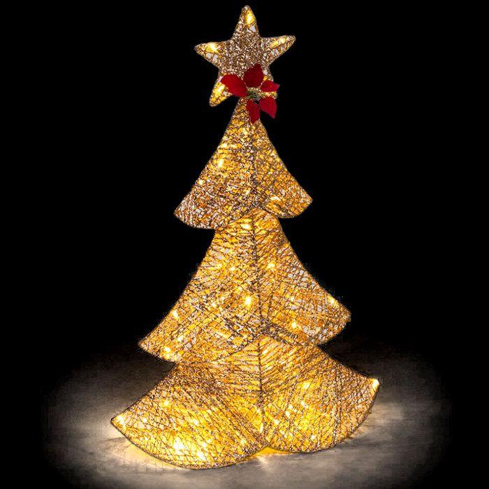 Immagini Natale Glitter.Decorazione Albero Di Natale Golden Glitter 64 Led Reflex Luce Fisssa Bianco Classic