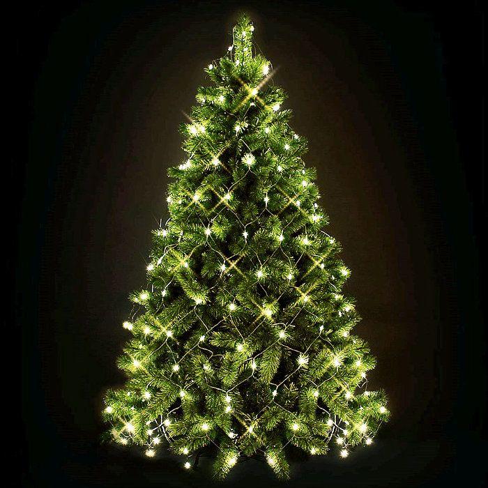Luci Albero Natale.Decorazione Rete Luminosa Per Albero Di Natale 195 Led Con Controller Bianco Classic