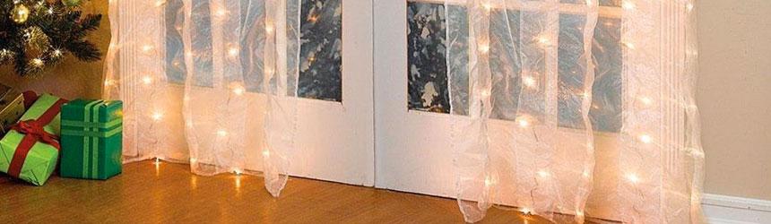 Luci e decorazioni di natale da interno - Accessori per tende da interno ...