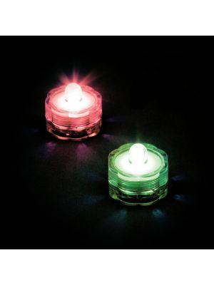 set 2 candele subacquee a batteria luce fissa - led rgb