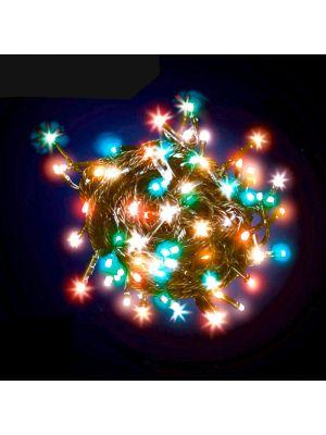 Catena di luci led 5m - 48 minilucciole con memory controller - multicolor