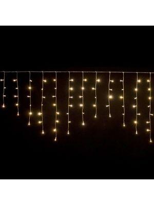 Ice light natalizio 96 Led 240 x h 80 cm - prolungabile - luce fissa - bianco classic