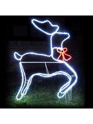 Renna luminosa per allestimento natalizio