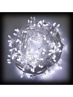 Catena lineare 180 led reflex bianco 5 mm - prolungabile - luce fissa - 230 V - lunghezza 10 m