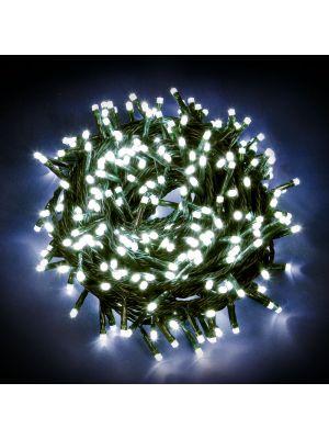 Catena luminosa 12,5 m - 300 minilucciole led con controller - bianco ghiaccio