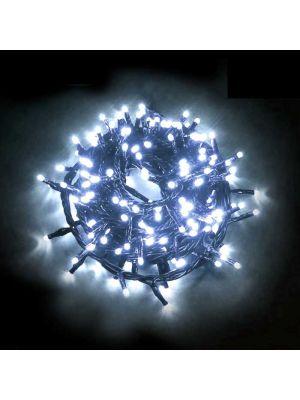 Catena di luci a led 180 miniled con controller - bianco ghiaccio freddo