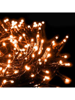 Catena di luci extralong 13,10 m - 180 miniled con memory controller - arancione