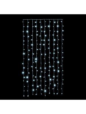 Tenda 100 x h 200 cm - 180 led Flashled - Prolungabile - Bianco Ghiaccio