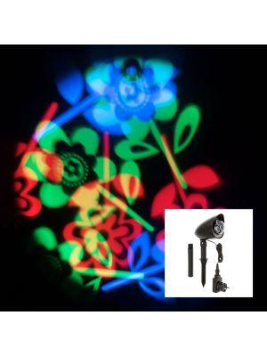 Proiettore a led fiori flowers - multicolor