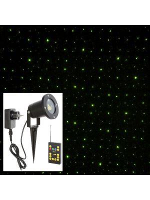 Proiettore laser punti - Verde - con Telecomando