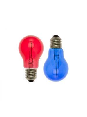 Set 2 lampadine ricambio E27 goccia A60 36V - filament led rosso e blu