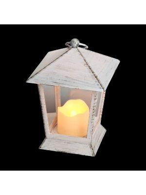 Lanterna a batteria h 17 cm con candela led classic effetto fiamma