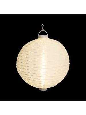 Lanterna party a batteria ø 30 cm in tessuto bianco - bianco classic