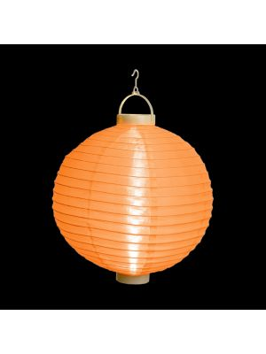 Lanterna party a batteria ø 30 cm in tessuto arancio - bianco classic