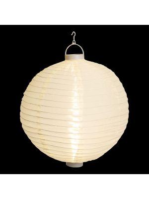 Lanterna party a batteria ø 40 cm in tessuto bianco - bianco classic