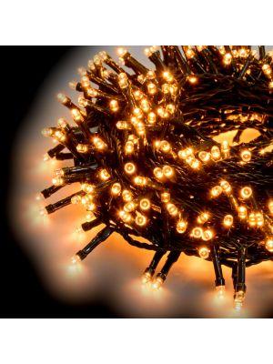 Catena luminosa 12,5 m 300 led con memory controller - bianco caldo tradizionale