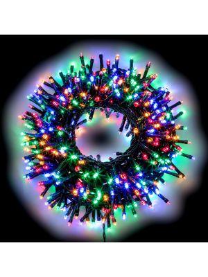Catena luminosa 24,5 m 600 led con memory controller - multicolor