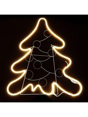 Albero di Natale 100 x h 115 cm SMD neon bifacciale 600 led - bianco classic