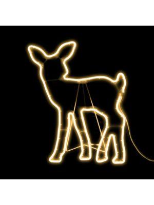 Renna cucciolo 55 x h 68 cm SMD neon bifacciale 480 led - bianco classic