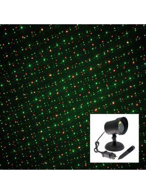 Proiettore laser punti - movimento - verde e rosso
