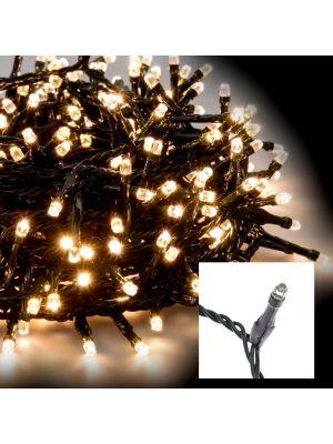 Catena luminosa di Natale 21,5 m - 300 led diamanti con memory controller - bianco caldo