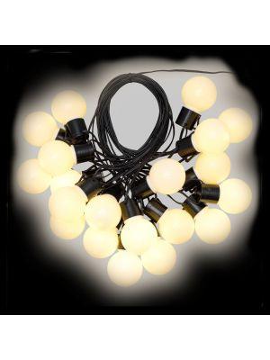 Catena party light da 10 m con 20 lampadine ø50xh60 cm - bianco classic caldo