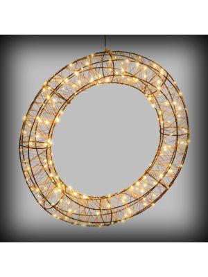 Corona / Ghirlanda luminsoa 3D in metallo con 180 microled h60 cm flashled - bianco caldo