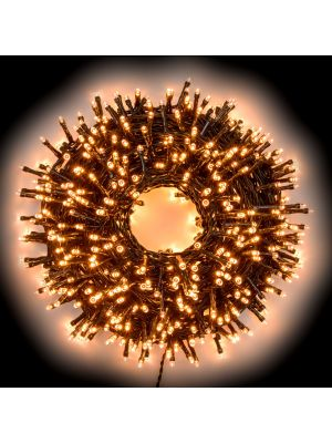 Catena luminosa 52,50 m - 750 miniled a luce fissa - bianco caldo tradizionale