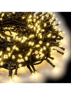 Catena grappolo 21,5 m - minicluster 1000 led a luce fissa - bianco classic
