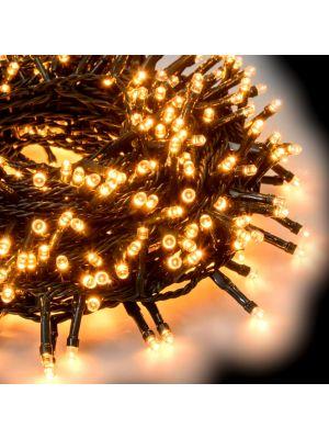 Catena grappolo 32,25 m - minicluster 1500 led a luce fissa - bianco caldo tradizionale