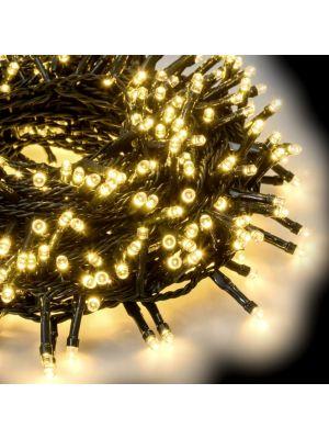 Catena grappolo 32,25 m - minicluster 1500 led a luce fissa - bianco classic