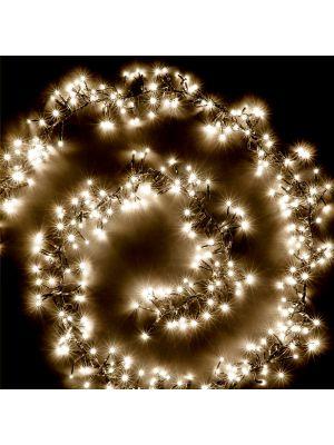 Catena festone grappolo 4,5 m - cluster 450 miniled a luce fissa - bianco classic