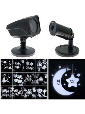 Proiettore Oscar a soggetti intercambiabili + Proiettore Baby luna e stella