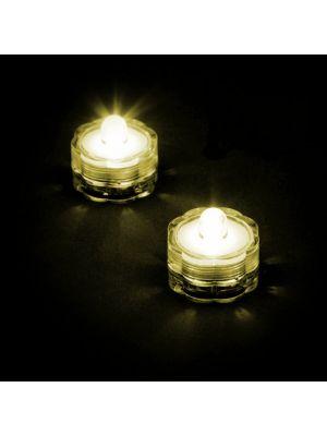 Set 2 candele subacquee a batteria luce fissa - Led bianco classic