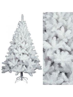 Albero di natale in pvc colore bianco H 210 cm albero moderno