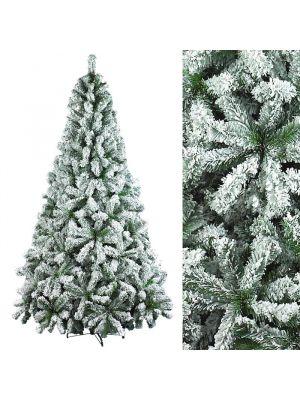 Albero di natale con effetto neve H 240 cm per interno