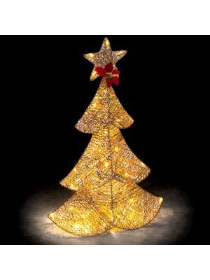 Decorazione albero di Natale Golden Glitter 64 led reflex - luce fisssa - bianco classic
