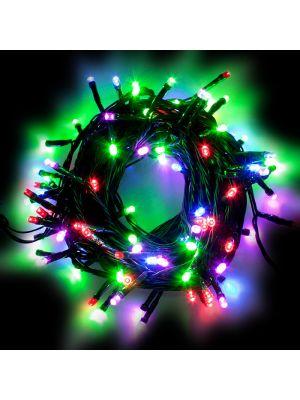 Catena 10 m - 100 LED Reflex - SENZA alimentazione - prolungabile - multicolor