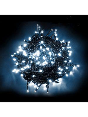 Catena 10 m di luci natalizie 180 Led a luce fissa - Reflex - Prolungabile - bianco ghiaccio