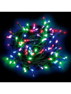 Catena luminosa 100 led reflex a batteria con memory controller e timer multicolor led reflex