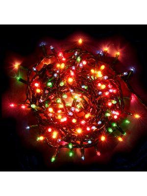 Catena 8,5 m - 280 mini luci di Natale ad incandescenza con controller - multicolor