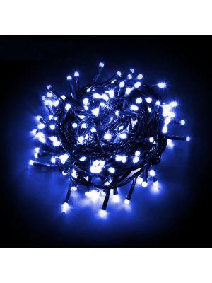Catena luminosa 100 LED Reflex con controller - blu da esterno
