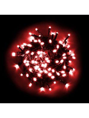 Catena luminosa 100 LED Reflex con controller rosso da esterno
