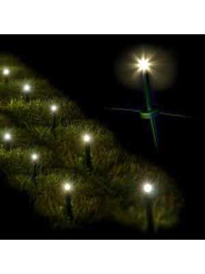 Decorazione luminosa 24 garden ministicks luce fissa prolungbile bianco classic luci led