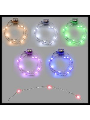 Kit 6 Collane / bracciali luminosi 10 Microled a batteria - luce fissa - multicolor