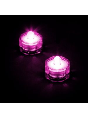 Set 2 candele subacquee a batteria luce fissa - Led pink