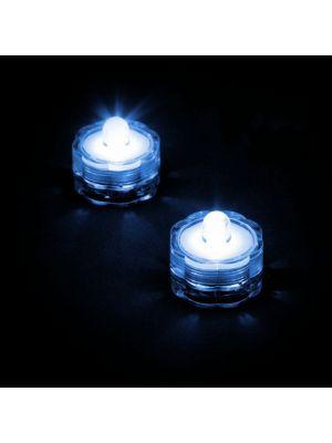 Set 2 candele subacquee a batteria luce fissa blu