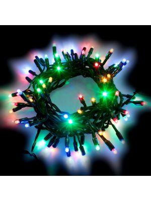Catena di Natale 10 m - 120 Maxiled luce fissa - prolungabile - multicolor
