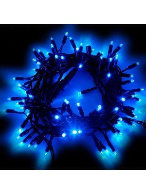 Catena di Natale 10 m - 120 Maxiled luce fissa - prolungabile - blu
